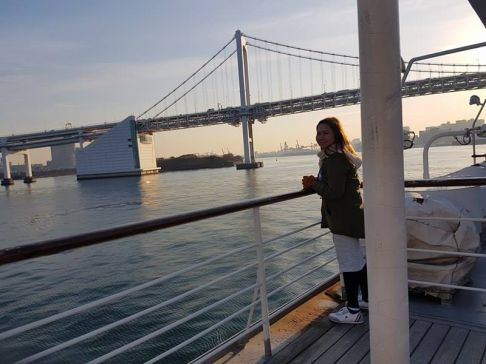 Boarding the Symphony cruise along the Tokyo Bay